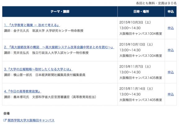 関西学院大学経営戦略研究科 SDセミナー